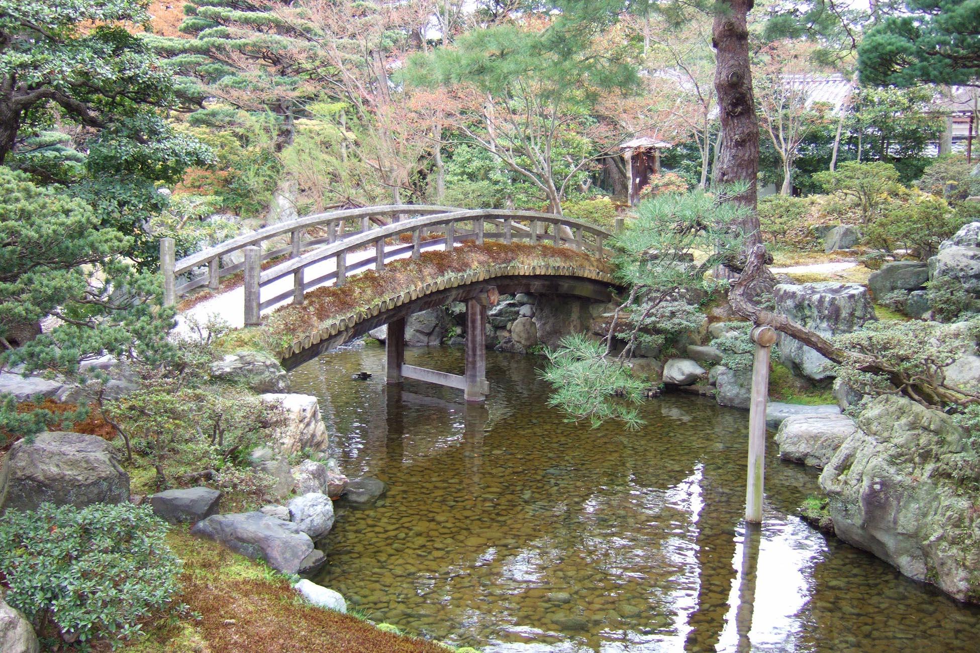Kyoto ponte nel giardino del palazzo imperiale