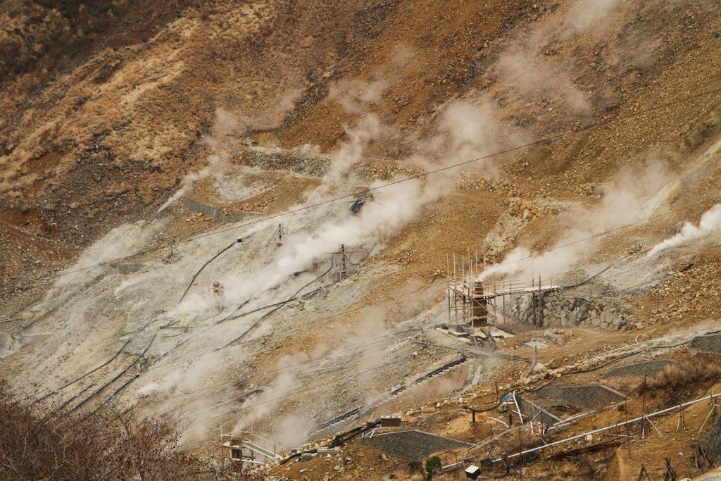 Hakone, Owakudani, la Grande Valle Ribollente Giappone