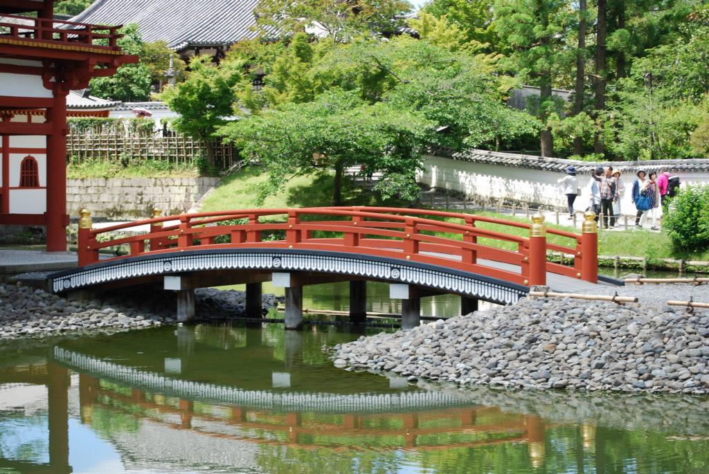 Ponte presso il tempio di Byodoin a Uji, - Kyoto (Giappone)